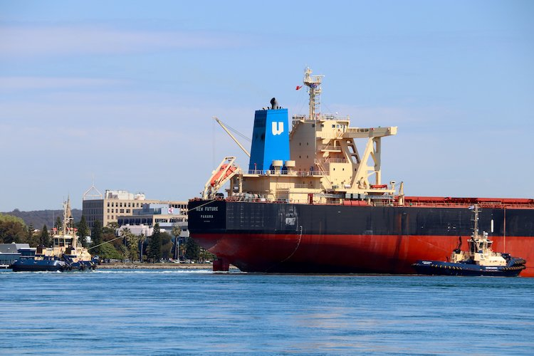 Shipping Newcastle Harbour