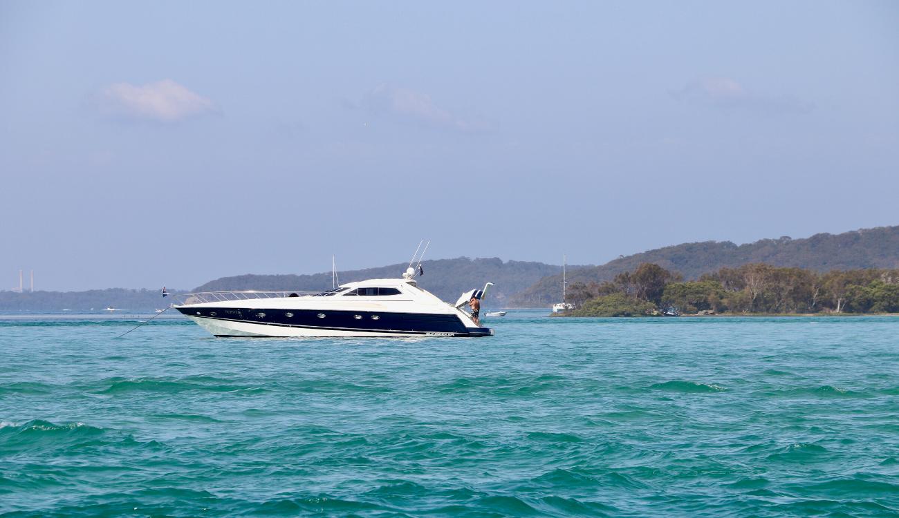Boat on Lake Macquarie