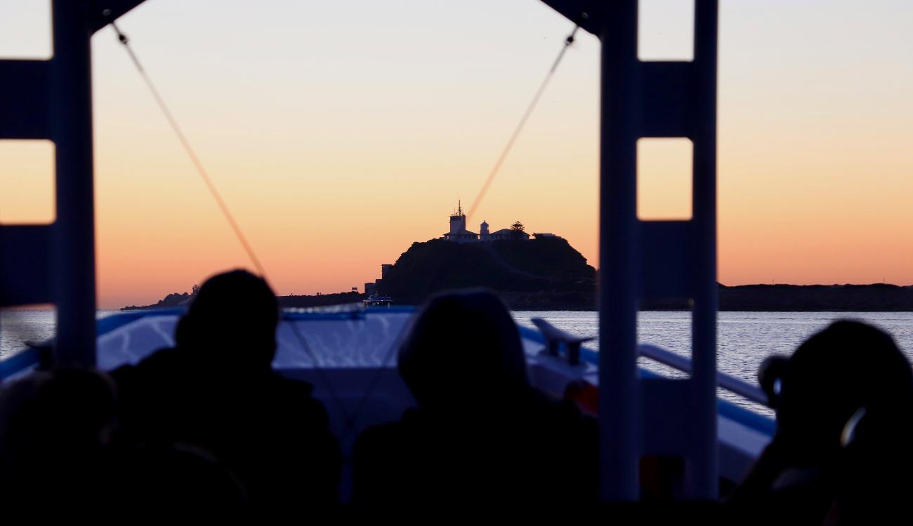 Sunrise Nobbys Lighthouse
